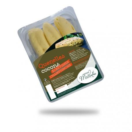 Cocons brochet écrevisse champignons