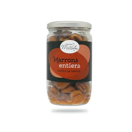 Marrons entiers en bocal 420g