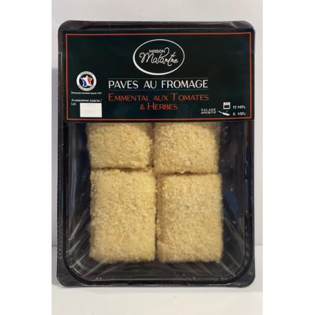 Pavés au fromage Emmental aux tomates-herbes