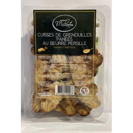 Cuisses de grenouilles panées au beurre persillé 350g