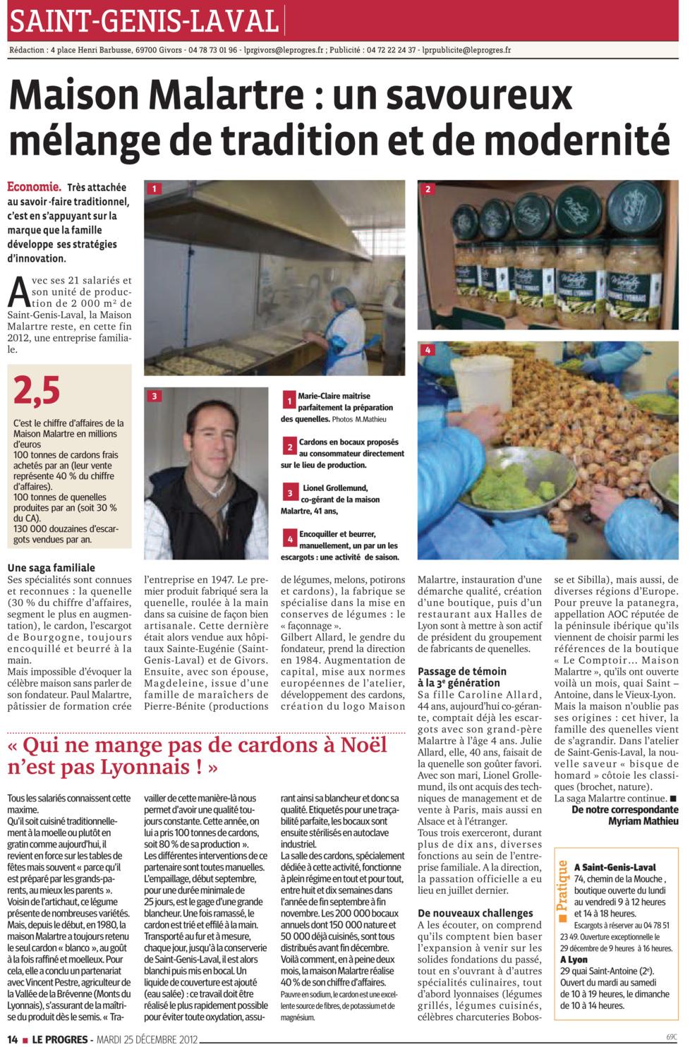 Maison Malartre : un savoureux mélange de tradition et de modernité – 2012